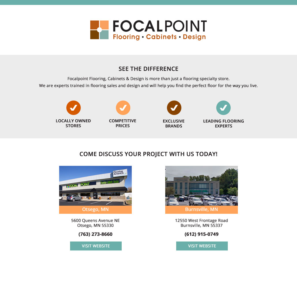 Focalpoint flooring cabinets design for Focal point flooring